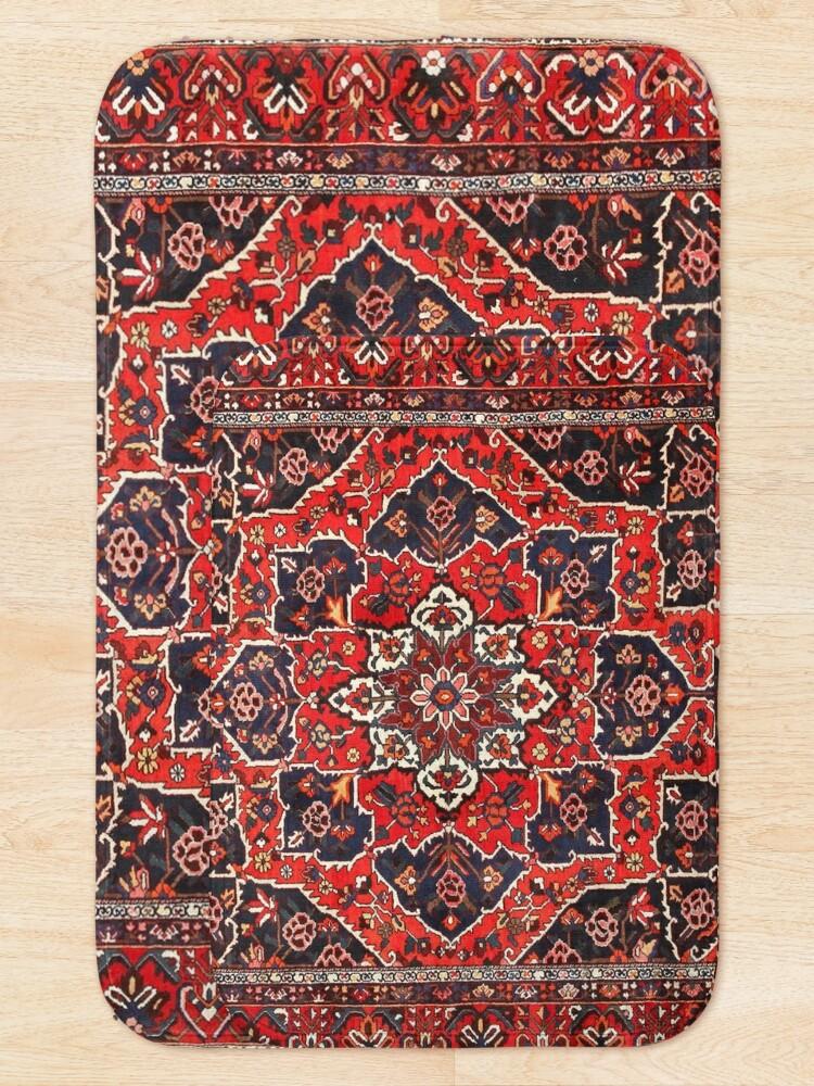 Alternate view of Tufted carpet / loop pile / Bakhtiari Rug | Antique Persian Bakhtiari Carpet wool  Bath Mat