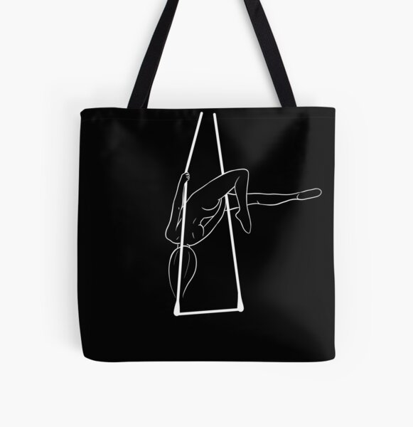 Aerial Trapeze Artist All Over Print Tote Bag