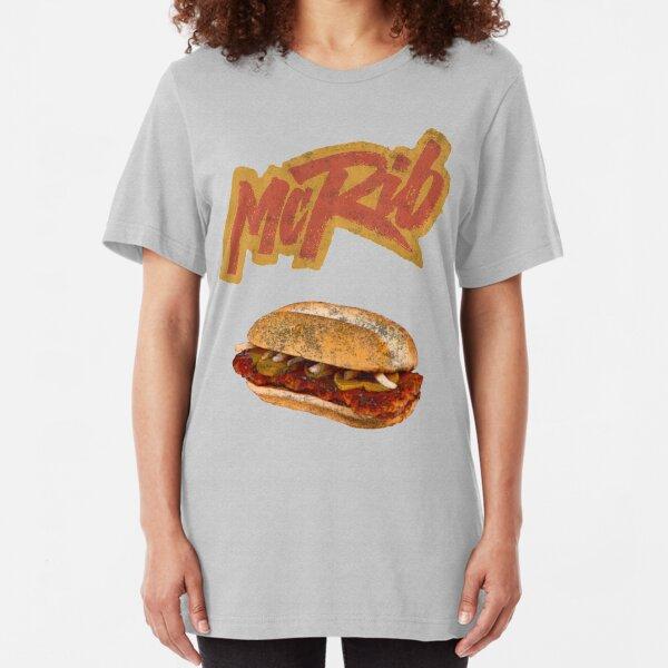 McRib (90s throwback) Slim Fit T-Shirt