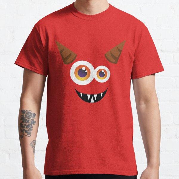 Silly Horned Monster Face Halloween Classic T-Shirt