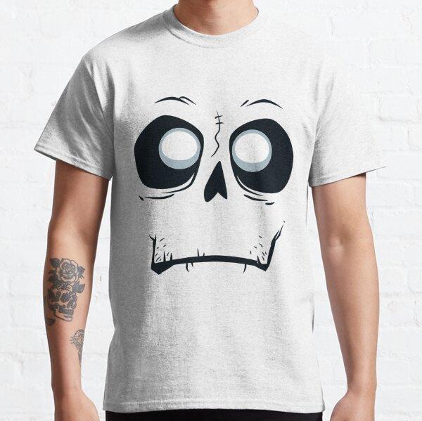 Silly Skeleton Monster Skull Face Halloween Classic T-Shirt