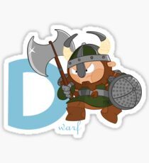 d for dwarf Sticker