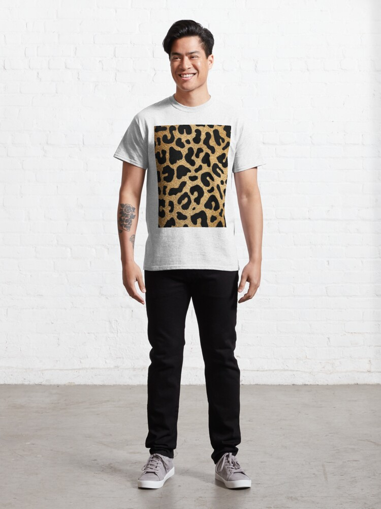 Alternate view of Glitter Leopard Classic T-Shirt