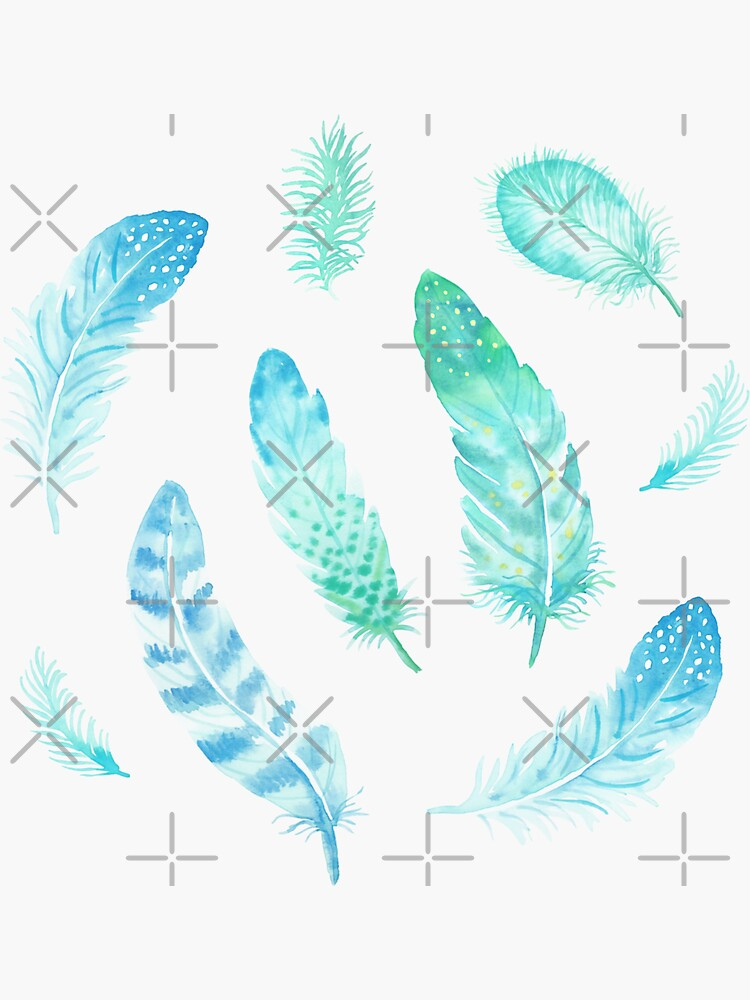 Watercolor Feathers by nadyanadya
