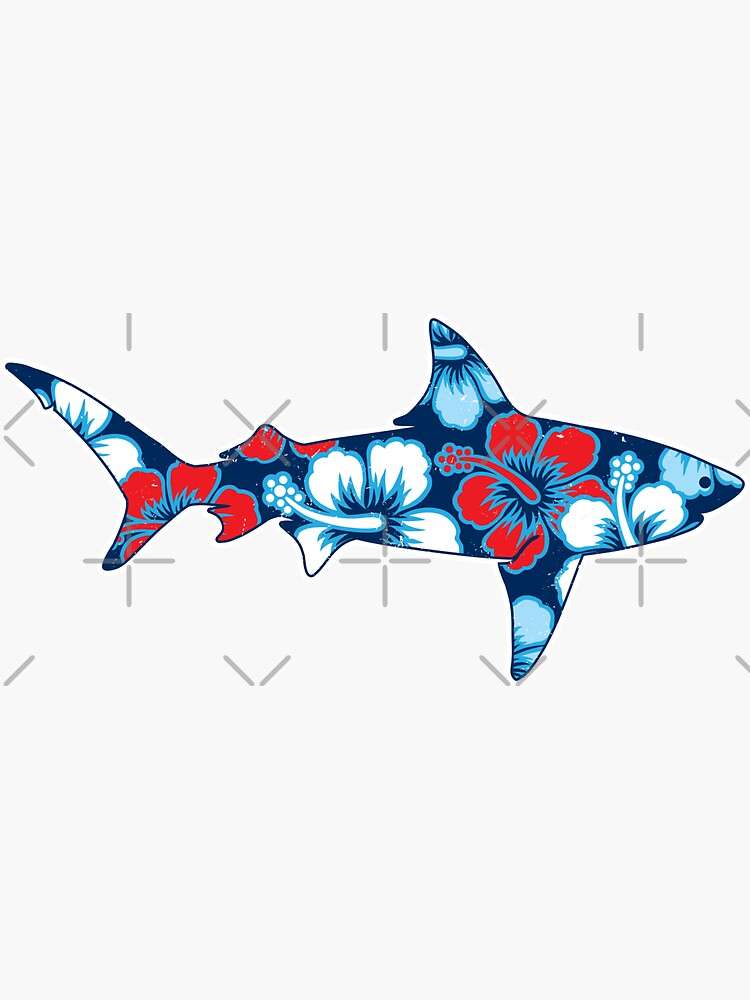 Hibiscus Floral Shark by analogdreamz