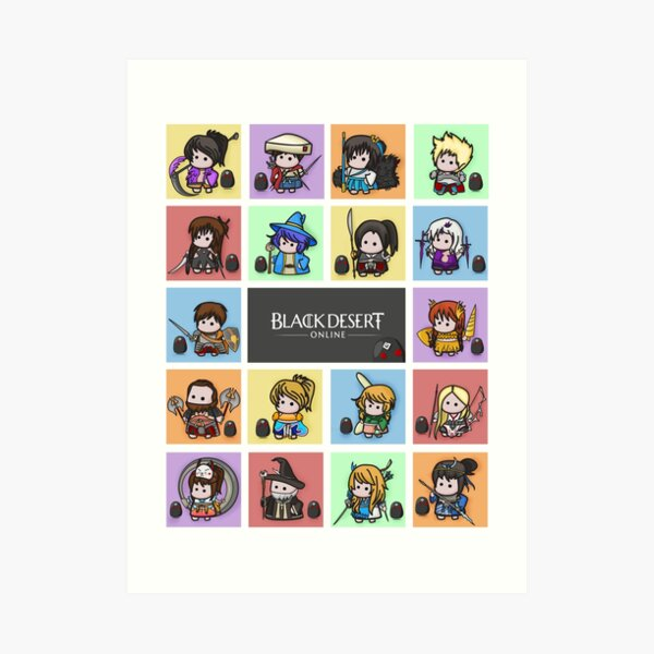 BDO Icons - All Classes Art Print