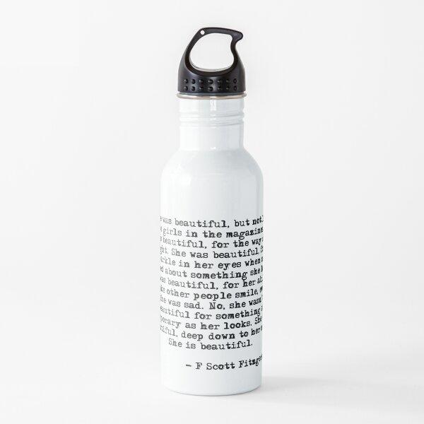 She was beautiful - F Scott Fitzgerald Water Bottle