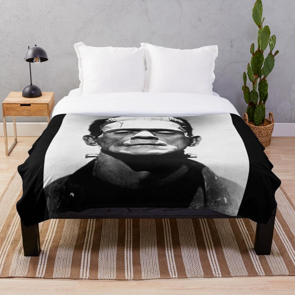Classic Frankenstein Throw Blanket