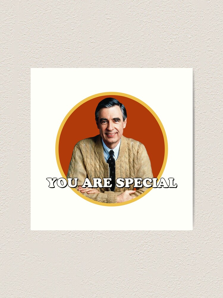 Mr Rogers You Are Special Sticker Art Print By Holidays4you Redbubble