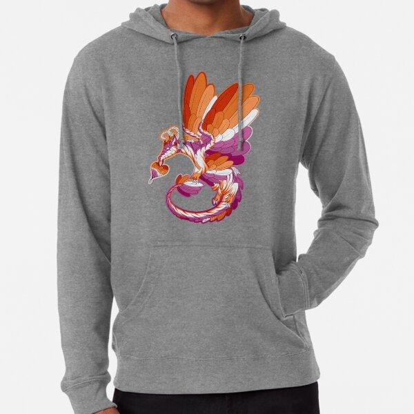 Lesbian Pride Dragon Lightweight Hoodie