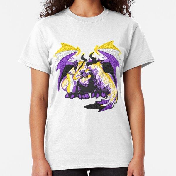 Non-binary pride dragon Classic T-Shirt
