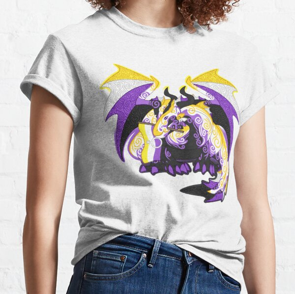 Non-binary pride dragon Classic T-Shirt