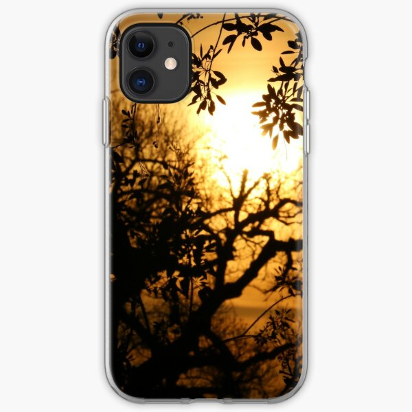 Sun Setting with Tree Shadows iPhone Soft Case