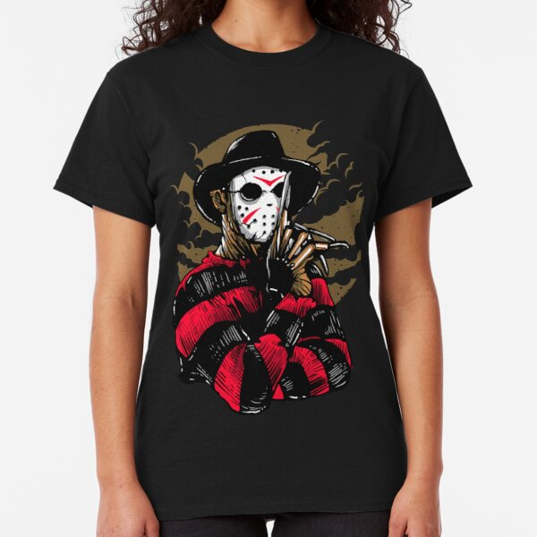 Horror Mashups: Freddy VS Jason Classic T-Shirt