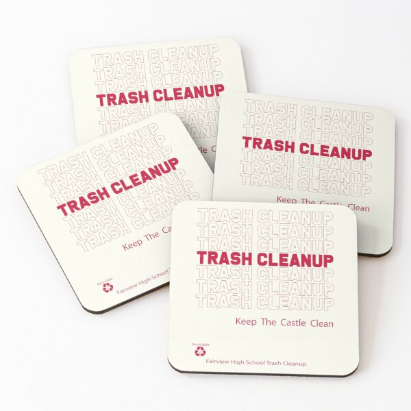 Trash Cleanup Recyclable Coasters (Set of 4)