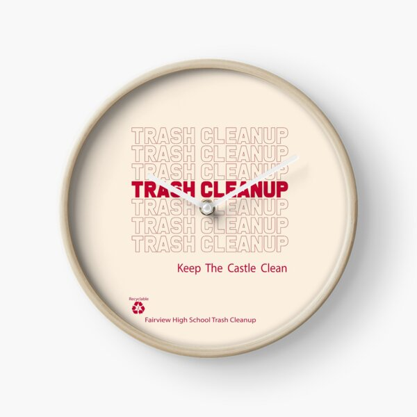 Trash Cleanup Recyclable Clock