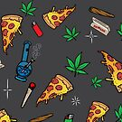 «Fiesta de pizza 420» de kushcoast