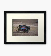 Throwing clay Framed Print