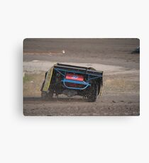 Throwing clay Canvas Print