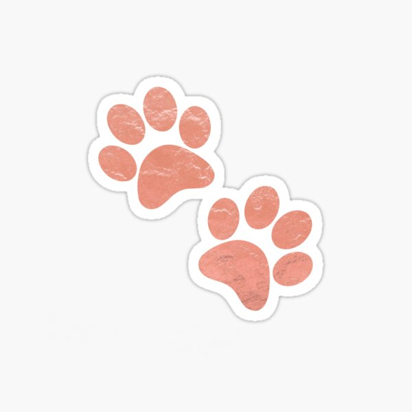 Paws Rose Gold  Sticker