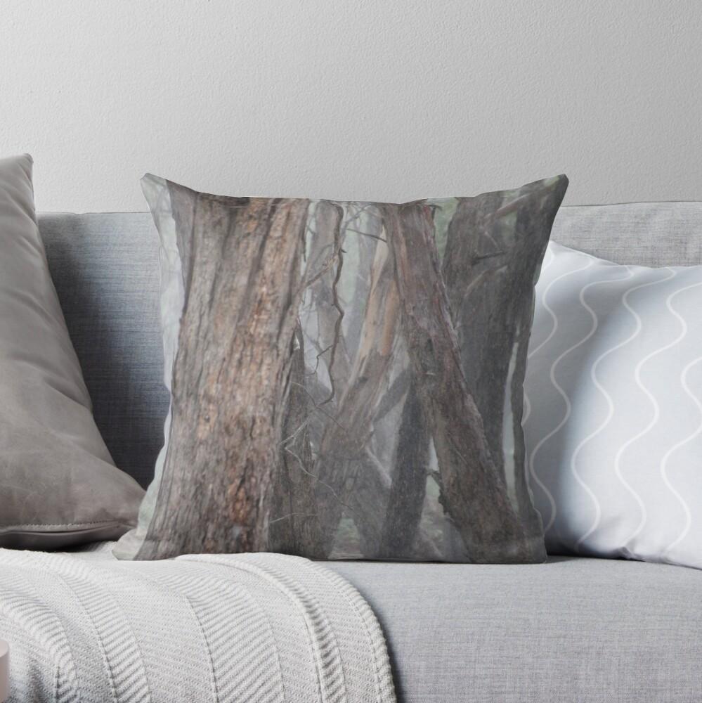 Grey Convergence Throw Pillow
