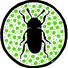 Green Erotylidae by Wild Green Memes Store