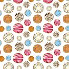Delicious Donut Pattern by BigAl3D