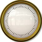 Simple Clock with Reflection Effect and Gold Border by BigAl3D
