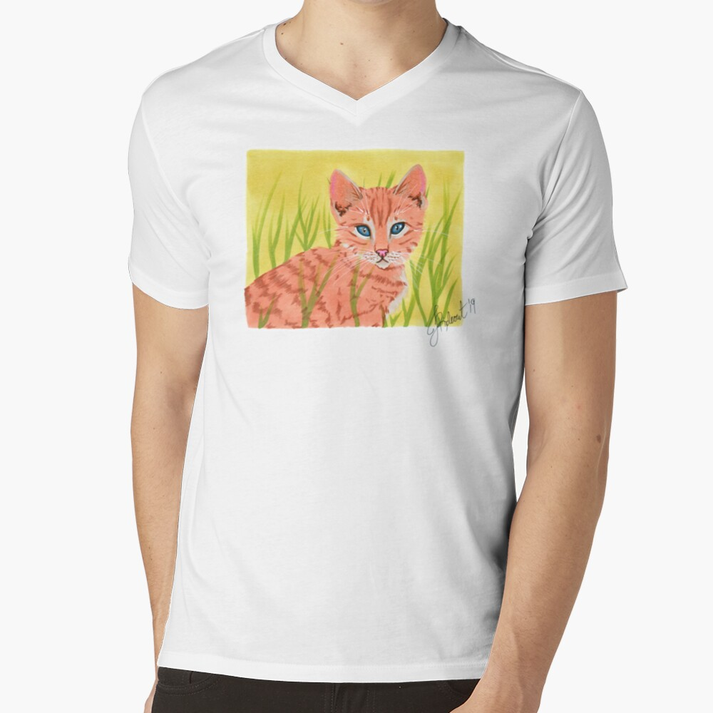 Ginger Kitten (2019) V-Neck T-Shirt