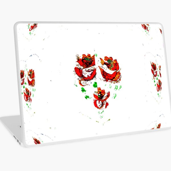 Canal flowers abstract bywhacky Laptop Skin