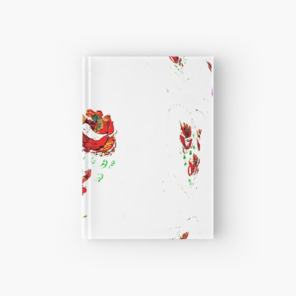 Canal flowers abstract bywhacky Hardcover Journal