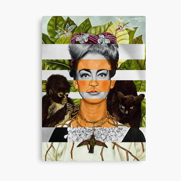 F.K. Self Portrait with Thorn Necklace and Joan Crawford Canvas Print