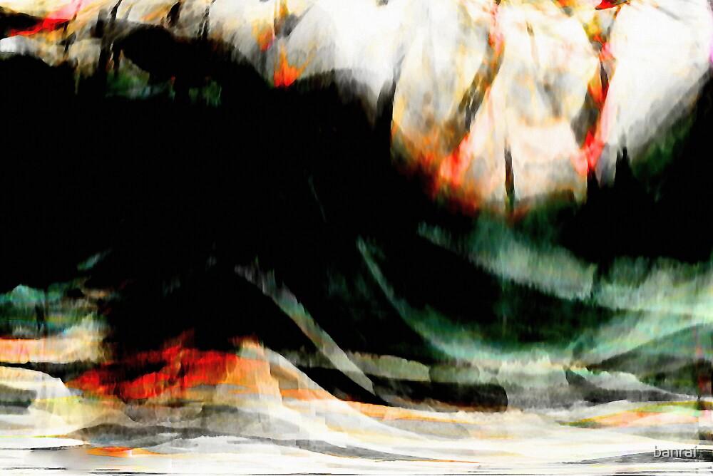 rhine misty rough river #9 by banrai