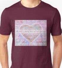 Inspirational Subliminal Art - Heart Chakra Opening - Affirmations Unisex T-Shirt