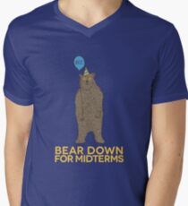 Bear Down for Midterms Men's V-Neck T-Shirt