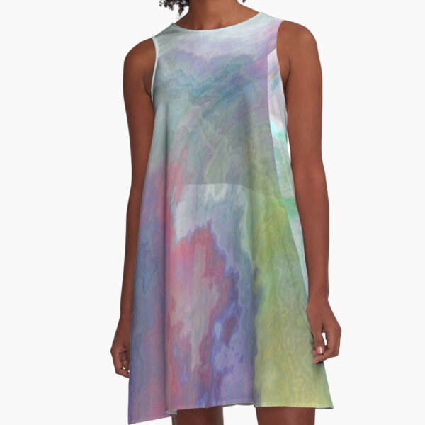 ryu-kyu-iro-inspired pattern A-Line Dress