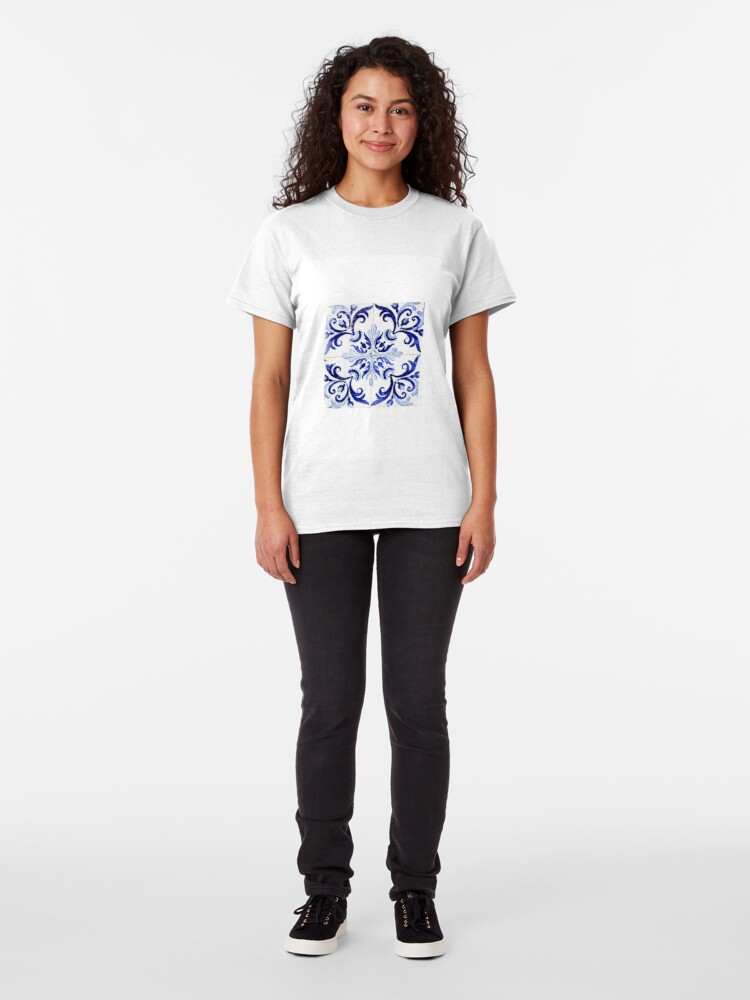 Alternate view of tiles pattern VI - Azulejos, Portuguese tiles Classic T-Shirt