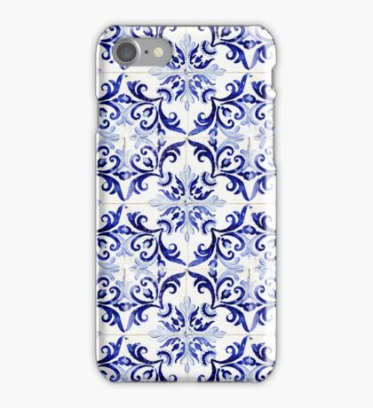 tiles pattern VI - Azulejos, Portuguese tiles iPhone Case/Skin
