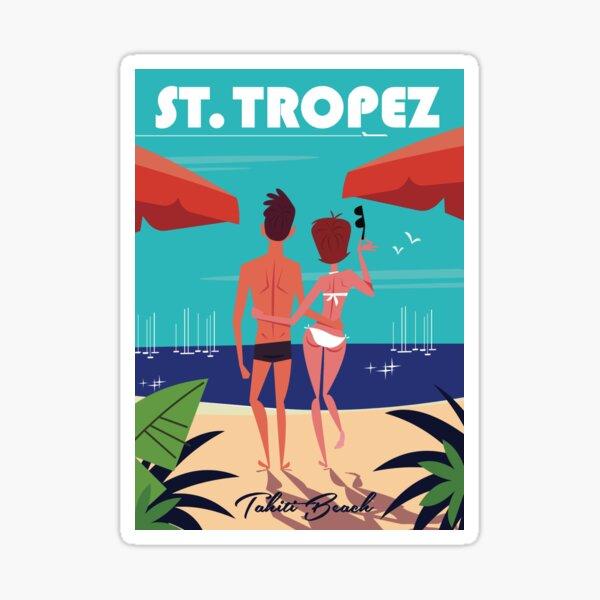 St Tropez Tahiti beach poster Sticker
