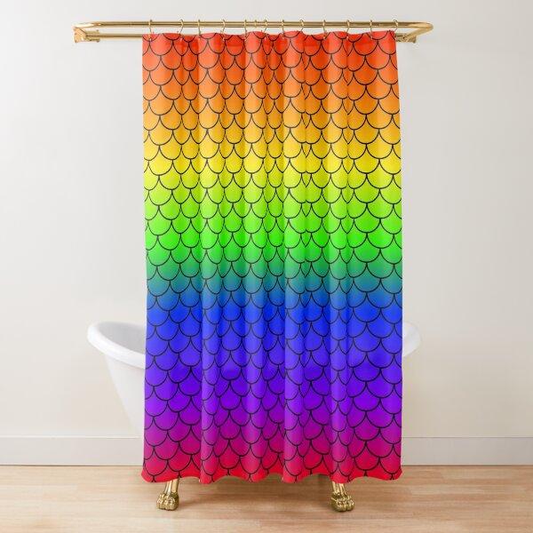 Rainbow Mermaid Scales Shower Curtain