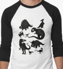 Camiseta ¾ estilo béisbol Dinosaurios silueteados