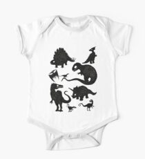 Silhouetted Dinosaurs One Piece - Short Sleeve