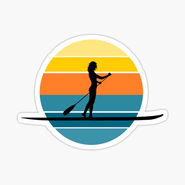SUP Stand up paddle board sunset Sticker