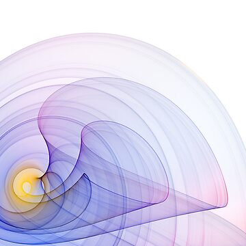 Blue spiral abstract by sustine