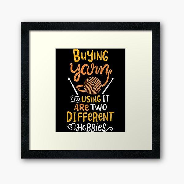 Yarn Crochet Framed Art Print