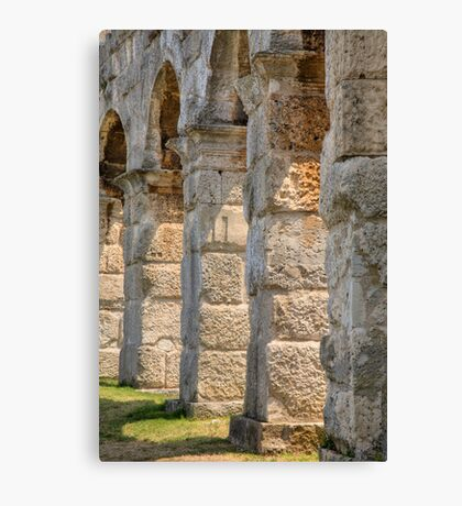 Colosseum in pula Canvas Print