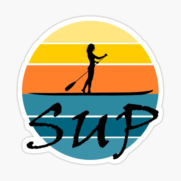 SUP Stand up paddle summer sunset Sticker