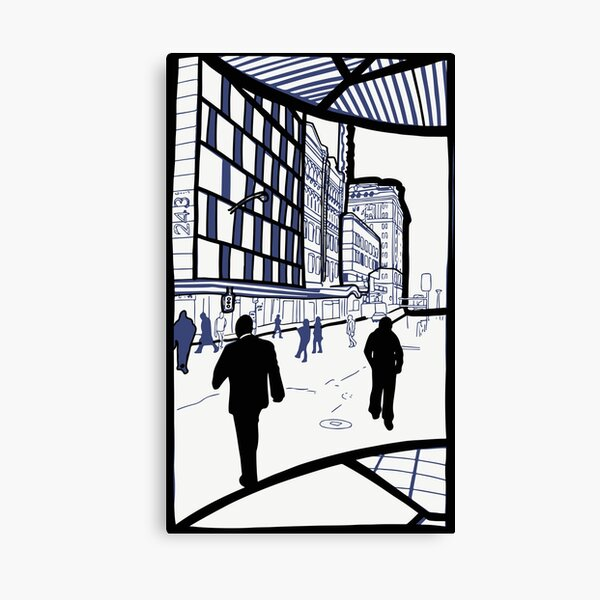 Brisbane City - Edward Street Canvas Print
