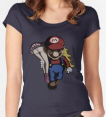 Mario Kidnap Women's Fitted Scoop T-Shirt