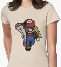 Mario Kidnap Womens Fitted T-Shirt